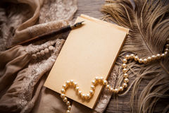 Vintage memories background. Vintage background with copy space, condolence and memories concept Royalty Free Stock Photos