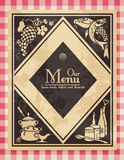 Vintage menu. Or cover for a cookbook - grunge is removable Stock Photo