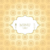 Vintage Menu. Vintage elegant menu design illustration Stock Photography