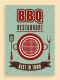 Vintage menu card for bbq restaurant. Stock Image