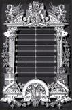 Vintage Menu with Coat of Arms on Blackboard. Detailed Illustration of a Vintage Menu with Coat of Arms on Blackboard Royalty Free Stock Photography