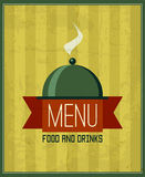 Vintage menu design template for your restaurant, cafe, bistro Royalty Free Stock Photos
