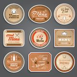 Vintage Menu Labels Royalty Free Stock Photo