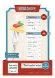Vintage menu Stock Image
