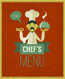 Vintage menu. Retro design template. Vector chef's menu. Stock Photography