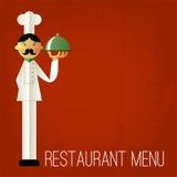 Vintage menu. Retro design template. Vector chef's menu. Stock Photo
