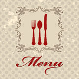 Vintage menu Stock Photography