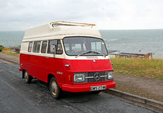 Vintage mercedes benz camper Stock Photo