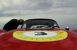 Vintage Mercedes Benz at a car rally stock photos
