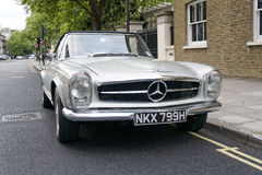 Vintage Mercedes Benz. Outside the street stock photos