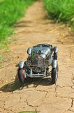 Vintage Mercedes-Benz SSKL on a dirt country road Royalty Free Stock Image