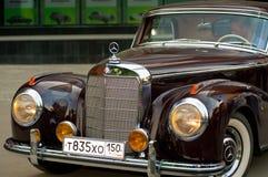 Vintage Mercedes front Retro Car stock photos