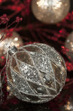 Vintage Mercury Silver Christmas Ornament 2 Royalty Free Stock Photography