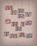 Vintage Merry Christmas Stock Photo