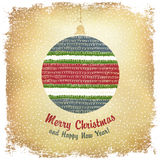 Vintage Merry Christmas Ball. Vector Stock Photography
