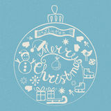 Vintage Merry Christmas card Stock Images