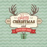 Vintage merry christmas card. Vector illustration Royalty Free Stock Images