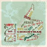 Vintage merry christmas concept hand. Vintage Merry Christmas concept words in hand thumb up shape. Vector illustration layered for easy manipulation and custom Stock Photography