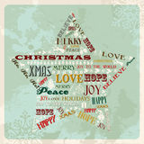 Vintage merry christmas concept star Stock Photo
