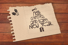 Vintage Merry Christmas and happy new year Royalty Free Stock Images