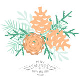 Vintage Merry Christmas And Happy New Year background. Stock Photography