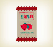 Vintage merry christmas and happy new year banner. Merry christmas background and greeting card design Royalty Free Stock Images