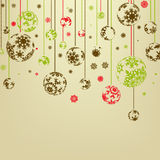 Vintage merry christmas and happy new year. EPS 8 Royalty Free Stock Photo