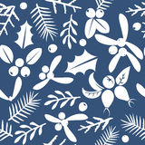 Vintage Merry Christmas And Happy New Year seamless pattern background. Royalty Free Stock Images
