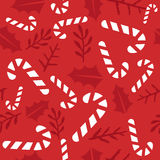 Vintage Merry Christmas And Happy New Year seamless pattern background. Stock Image