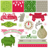 Vintage Merry Christmas and New Year Royalty Free Stock Photo