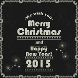 Vintage Merry Christmas and New Year abstract background. Royalty Free Stock Photography