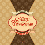 Vintage Merry Christmas and New Year background Royalty Free Stock Photo