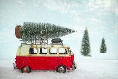 Vintage Merry Christmas postcard background stock photo