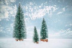 Vintage Merry Christmas postcard background stock photos
