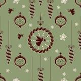 Vintage Merry Christmas seamless Stock Photography