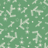 Vintage Merry Christmas seamless with  hand drawn elements Royalty Free Stock Photos