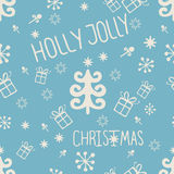 Vintage Merry Christmas seamless Stock Photos