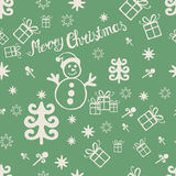 Vintage Merry Christmas seamless Stock Images