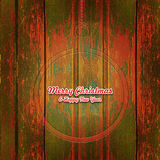 Vintage Merry Christmas wood carving Royalty Free Stock Photo