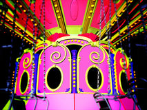 Vintage merry go round. At fairground Royalty Free Stock Photo