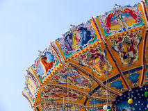 Vintage merry-go-round. At a fair Royalty Free Stock Photo