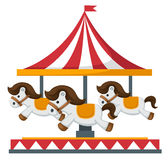 Vintage merry-go-round carousel vector Royalty Free Stock Photography