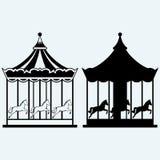 Vintage merry-go-round Stock Photos