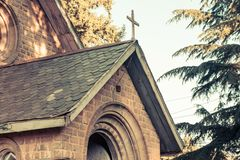 Vintage and mesmerizing Dalhousie Church royalty free stock photo