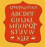 Vintage messy hand drawn font Stock Photography