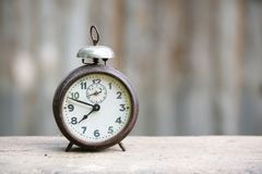Vintage metal analog alarm clock Royalty Free Stock Photos