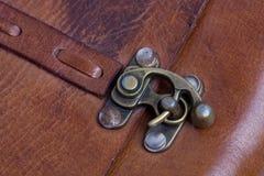 Vintage metal bag lock Stock Images