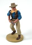 Vintage metal cawboy toy Royalty Free Stock Photography