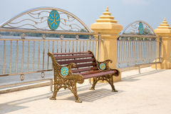Vintage metal chair in outdoor public park Royalty Free Stock Images