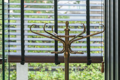 Vintage metal coat rack or hall stand Royalty Free Stock Photography
